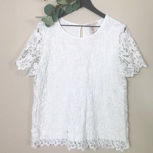 Philosophy lace top
